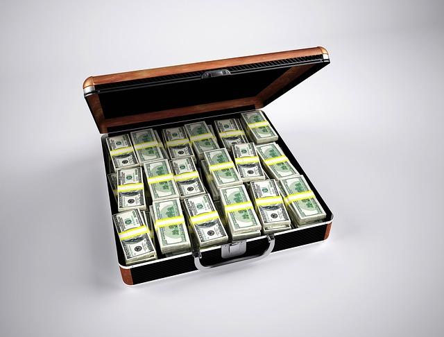 bohatství kufr