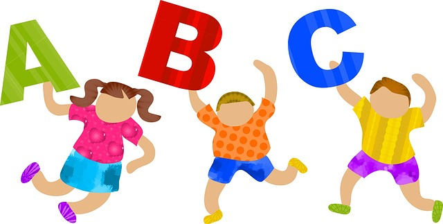 Děti s abecedou