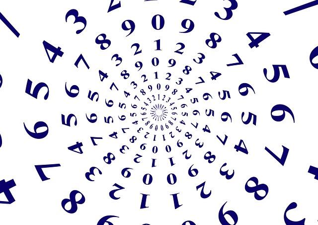 číslice v kruzích