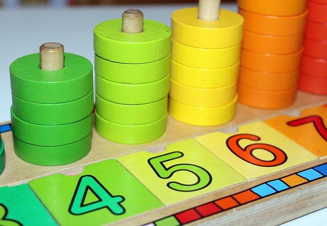 číslice jako dětská hračka